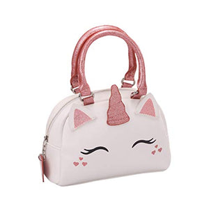 Unicorn Design Little Girls Handbag | Pink & White