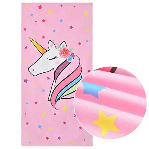 Unicorn Beach Towel | 76 x 152cm | Pink