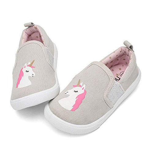 Unicorn Slip On Shoes Grey, Pink