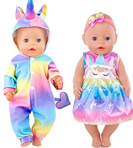 2 Outfits For Dolls | Unicorn Style | Rainbow Coloured