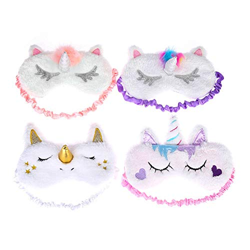 4 Super Cute Unicorn Sleep Masks
