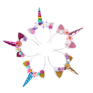 unicorn headband party set of 5