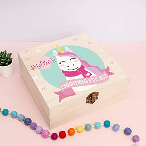 Personalised Unicorn Christmas Eve Box Gift - Unicorn Design