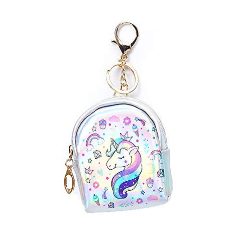 Unicorn Coin Purse For Women And Girls With Keyring