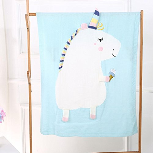 quilted large unicorn ice cream blanket