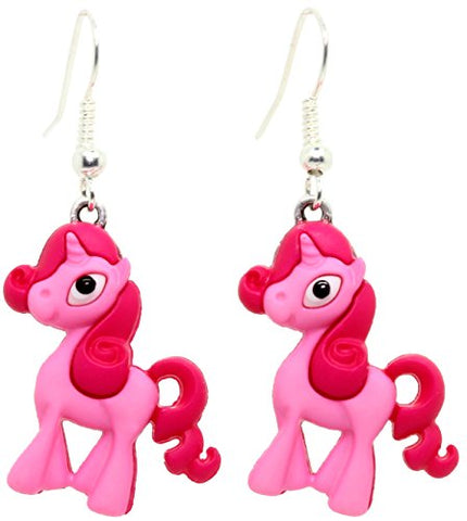 Bluebubble I AM A UNICORN Pink Unicorn Earrings With FREE Gift Box