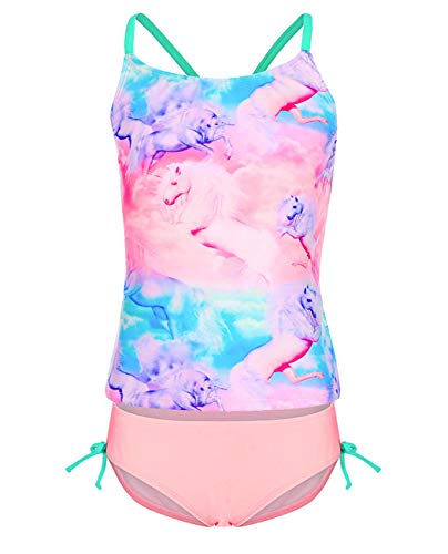 Unicorn tankini for girls pink ,blue, purple