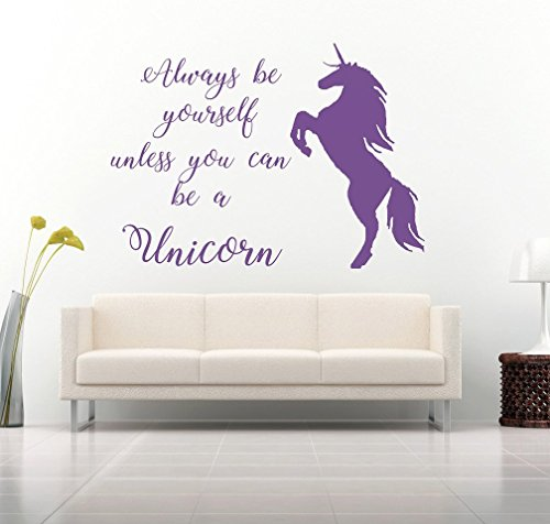 always be yourself unicorn wall sticker