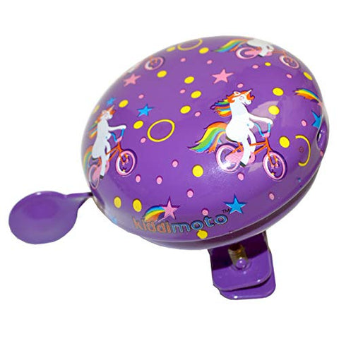 Children's Bike/Bicycle/Scooter Metal Bell | Unicorn Design | Purple