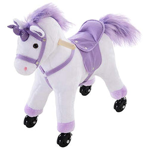Kids Ride On Walking Unicorn | For Age 3+ | Purple & White