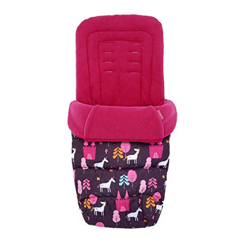 Cosatto Unicorn Universal Footmuff | Cosy Toes | All Season Quilted Pushchair Footmuff