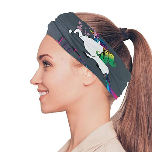 LUPINZ Magic Scarf, Fishing Mask Just Believe In Your Dreams Unicorn Pattern Tube Mask, Neck Balaclava and Sport Scarf Headband Sweatband
