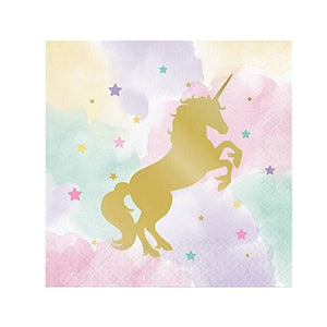 Unicorn Sparkle Beverage Napkin Foil Stamp