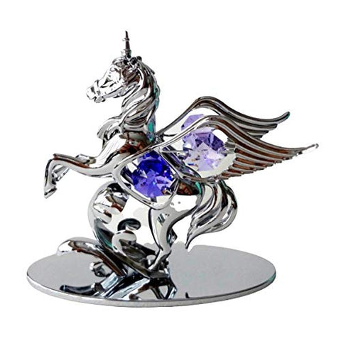 Winged Pegasus Unicorn Mythical Crystal Ornament With Swarovski Elements | Gift Boxed | Keepsake