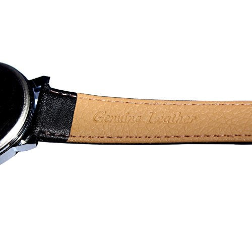 Unicorn Fashion Watch - All You Need Is Love, Black Genuine Leather Strap