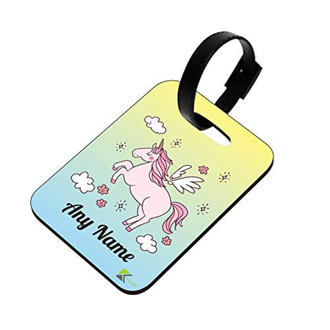Personalised Name Unicorn Suitcase Luggage Tag