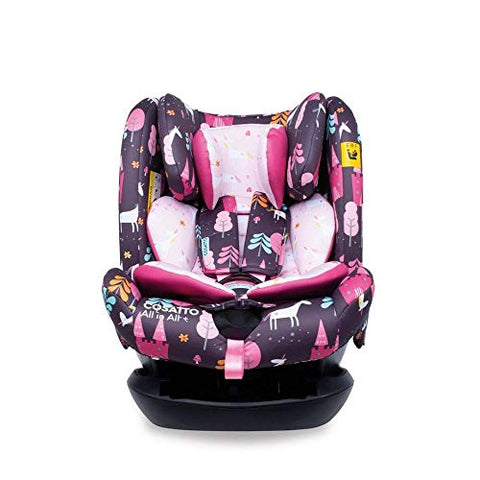 Cosatto All in All + Baby to Child Car Seat - Group 0+123, 0-36 kg, 0-12 years, ISOFIX, Extended Rear Facing, Anti-Escape, Reclines (Unicorn Land)