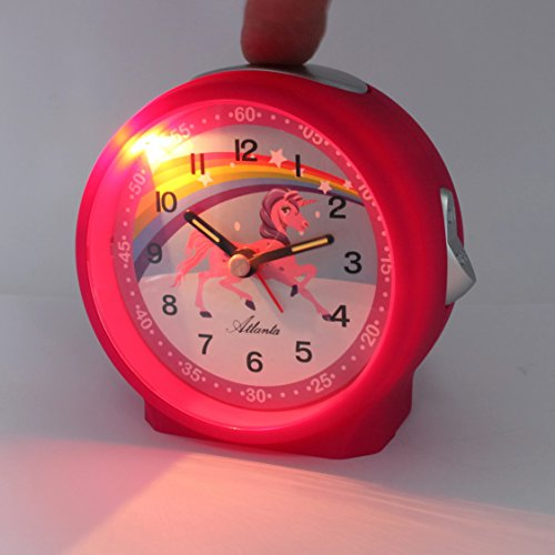 Unicorn Bedside Table Alarm Clock Pink