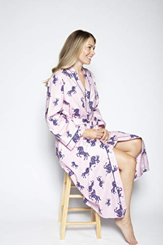 Women's Unicorn Dressing Gown | Floral | Purple