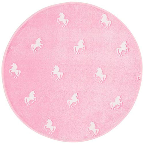 Unicorn Rug, Pink and Glows in the Dark - Round