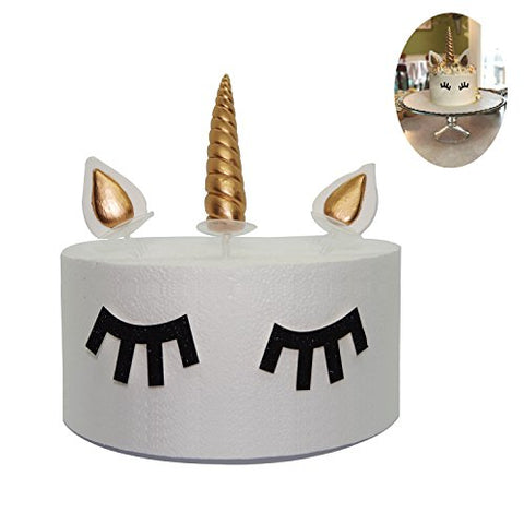 Gold Unicorn Cake Topper Set
