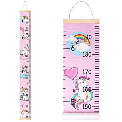 Unicorn Wall Height Chart Growth Chart for Kids | Pink