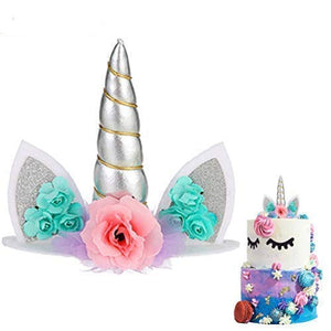 Flowers and Unicorn Cake Topper
