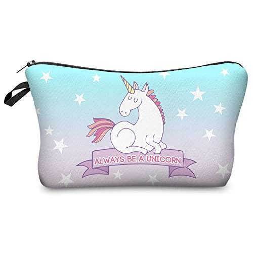 Always Be A Unicorn Make Up Bag- pastel colours