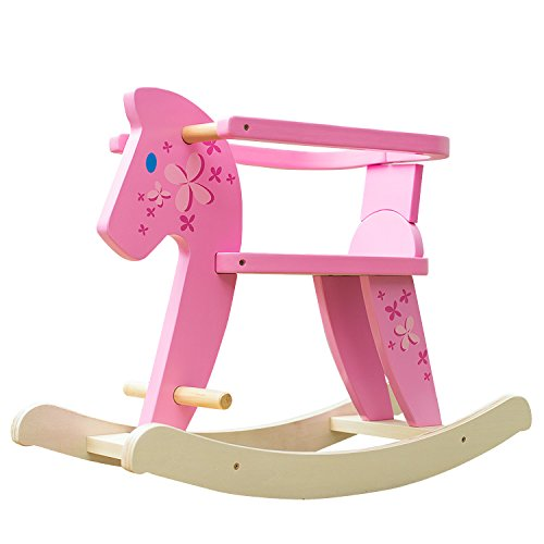 Labebe Baby Wooden Rocking Horse for Baby Up to 1 Year