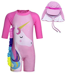 Unicorn Pink Swimsuit UV Protection