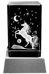 Unicorn Mood Light 3D Laser Engraving Unicorn Motif