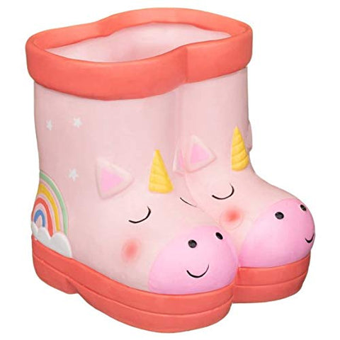 Unicorn welly planter plant pot