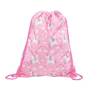 Sass & Belle Rainbow Unicorn Drawstring Bag | PE Kits, Swimming Bag