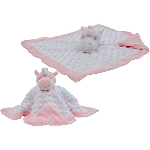 Personalised Soft Unicorn Comforter Blanket | Pink, White