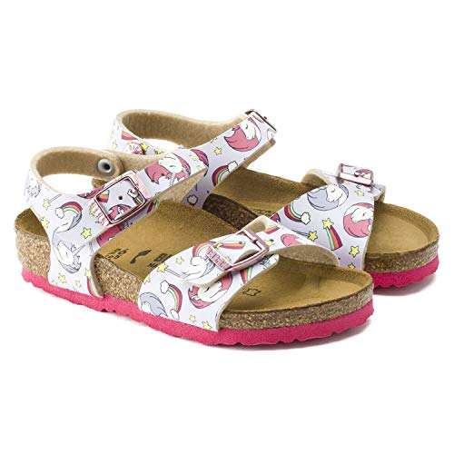 Birkenstock girls unicorn sandals pink soles