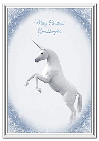 Unicorn Christmas Cards | Luxury Quality | Granddaughter Card