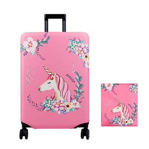 Unicorn Suitcase Protective Cover | Travel Luggage Trolley Case Cover Protector | Pink