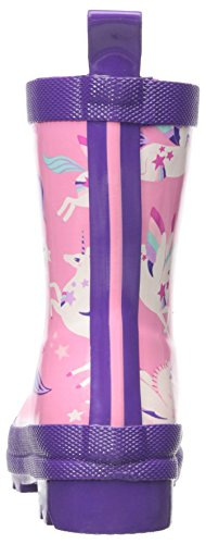Hatley Girls' Wellington Boots, Pink Flying Unicorns
