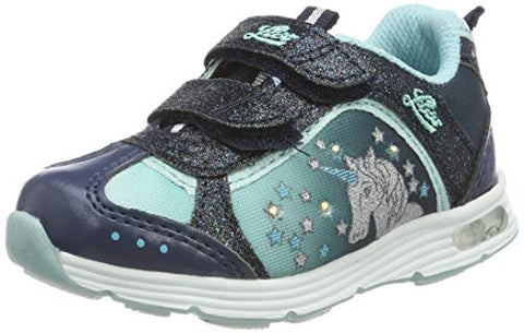 Girls Unicorn Low-Top Sneakers, Blue