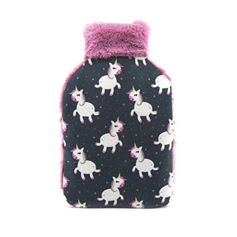 Hot Water Bottle With Unicorn Cover | Unicorn Gift