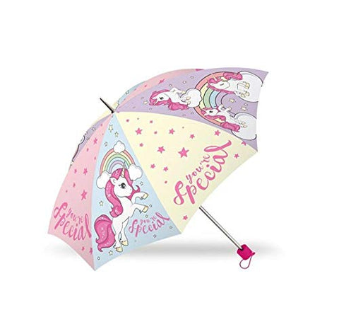 Pastel Coloured Unicorn Design Umbrella | Kids