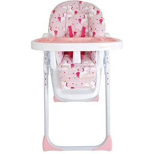 unicorn themed baby highchair easy to clean foldable adjustable