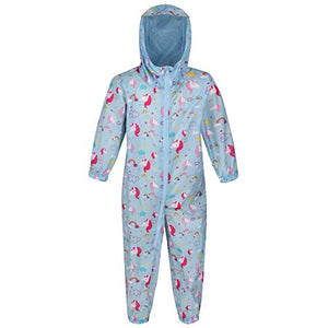 Unisex Kid's Puddle IV All-in- One Suit | Unicorn | Blue | Regatta
