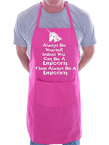 Always Be Yourself Unicorn BBQ Cooking Funny Novelty Apron Pink