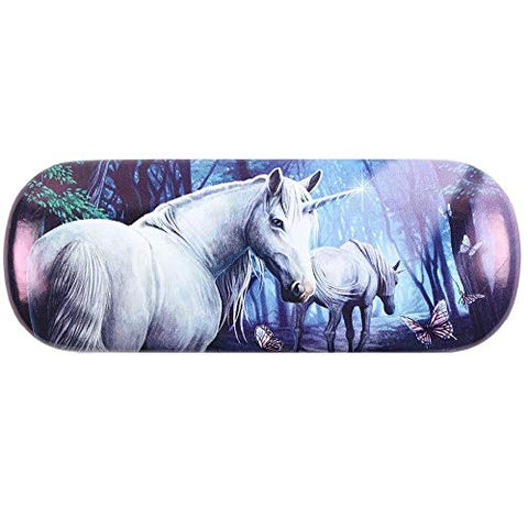 Unicorn glasses case woodland purple