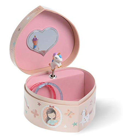 Heart Shaped Unicorn Jewellery box trinket