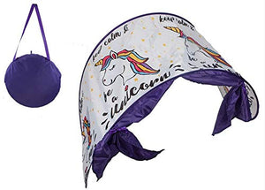 Pop Up Magical Unicorn Bed Canopy Night  Bed Tunnel Tent Age 3+