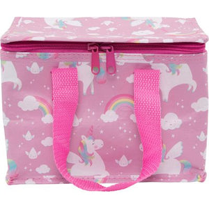 unicorn food cool bag lunch box pink clouds handles