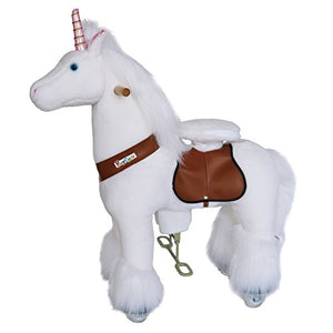 Ride On Unicorn Horse | Walking Animal Plush Toy |  Age 3-5 | Gift | PonyCycle Official