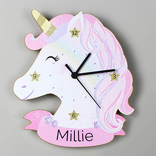 Personalised Unicorn Shaped Wall Clock